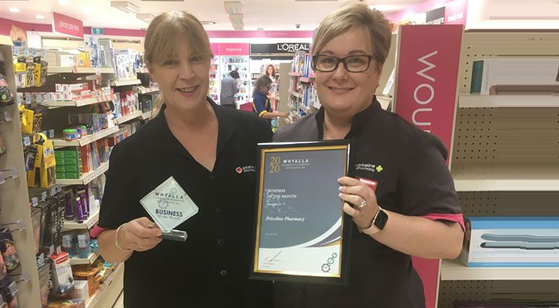 February 2020 Business Of The Month Priceline Pharmacy Whyalla